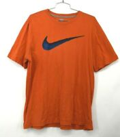 Nike Mens Neon Orange Graphic Front Crew Neck Short Sleeve Cotton Tee Shirt XL