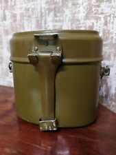 Original USSR Army 1949 mess kit Aluminum military bowler pot Army 2 parts mess