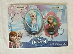 "Frozen Foil Balloon 25"" x 31"" 2 sided Elsa Anna Party Princess"