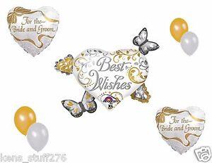 Heart Cluster Best Wishes Balloon Bouquet, Butterflies, Wedding Reception Decor