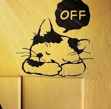FD3750 Fat Baby Cat Sticker Home Decor Craft Bedroom Switch Wall Sticker 1pc