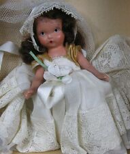 Vintage 1930's Composition Doll 6� Tall in Box Family Series Bride 86