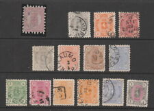 Finland 1875- 1885 fine used collection, 14 stamps.