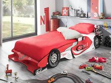 Kinderbett Autobett Formel 1 Rennauto Jugendbett rot weiss 200 x 90 cm Spielbett