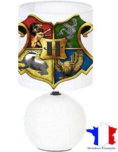 Lampe de chevet blanc Harry Potter - création artisanale collage photo..