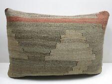"Kilim Pillow Cover Long Rug Pillow Turkish Decor Cushion 20""x14"" Throw Pillows"