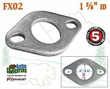 "FX02 1 5/8"" ID Flat Oval Two Bolt Exhaust Flange Fits 1 1/2"" 1.5"" - 1.625"" Pipe"