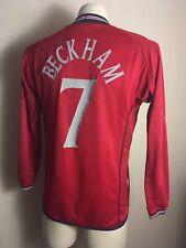 ENGLAND NATIONAL TEAM 2002 2004 AWAY FOOTBALL SHIRT JERSEY LONG SLEEVE BECKHAM