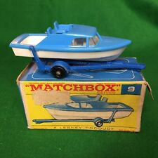 Matchbox Lesney Boxed Series No. 9 BOAT AND TRAILER, late 1960's