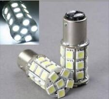 White LED #1157 12 Volt Tail Light Brake Stop Turn Signal Lamp Bulbs Pair 27SMD