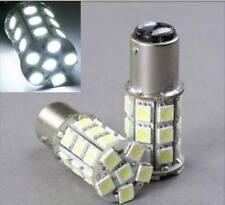 White LED #1157 12 Volt Tail Light Brake Stop Turn Signal Lamp Bulbs 27 SMD