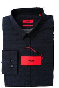 NEU gr. M HUGO BOSS JERO3 HEMD EXTRA SLIM FIT NAVY zu Jeans 50378144