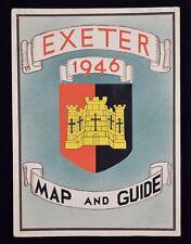VINTAGE ORIGINAL EXETER MAP & GUIDE 1946 DRAWING ARTWORK KEITH LEWIS