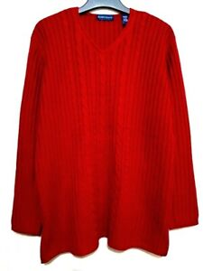 Karen Scott red ribbed sweater