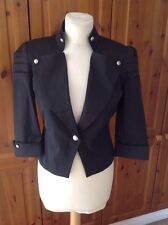 GREAT DOROTHY PERKINS BLACK MILITARY STYLED JACKET UK SIZE 6-8 BARELY WORN