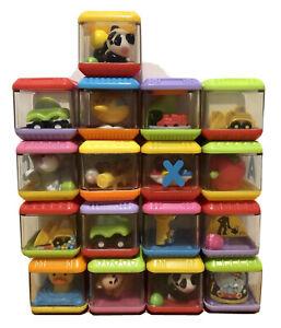 Peek a Boo baby toy blocks Fisher Price Bulk Lot Transport Animals Mixed