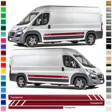 Seiten-Streifen Aufkleber-Set, Dekor-Sticker komp. - Fiat Ducato R - Transporter