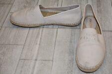 Coach Rhoda Espadrille Canvas Flats - Women's Size 8  - Natural