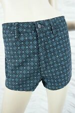WRANGLER navy blue velvet gothic pattern high waisted cheeky shorts size 13 BNWT