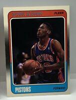 1988-89 FLEER DENNIS RODMAN ROOKIE CARD RC #43 BULLS FINAL DANCE