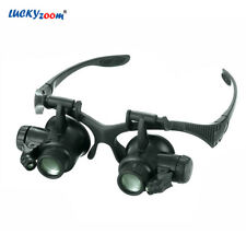 Luckyzoom Headband 10X 15X 20X 25X Glasses Magnifier Magnifying Glass With LE…