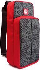 HORI Official Nintendo Switch Go Pack Sling Bag Shoulder Pack - Mario Edition