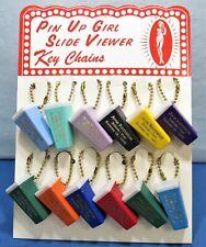 Pin Up Girls  ~ Elvgren Slide Viewer Key Chains + Store Display 1950's