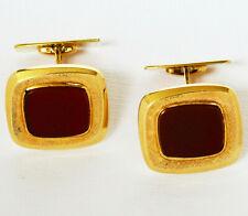 Paar Manschettenknöpfe 14 Karat 585 Gold 11,81 g Gelbgold Karneol