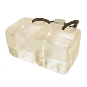 Auth LOUIS VUITTON Logos Cube Elastic Tie Hair Band Accessory F/S 13895b