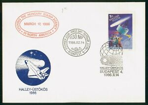 Mayfairstamps Hungary FDC 1986 Satellite Halleys Comet Opening Stamp Agency Firs