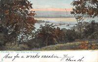 Peoria Illinois~Upper Bridge from the Boulevard~Birdseye View~1906 TUCK Postcard