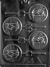 S061 Skiing Lolly Lollipop Chocolate Candy Soap Mold with Instructions