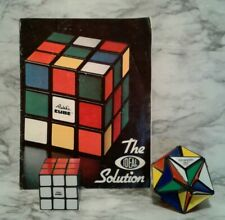 Vintage 1982 ALEXANDER'S STAR & 1980 RUBIK's CUBE Puzzle w/ IDEAL Solution Book
