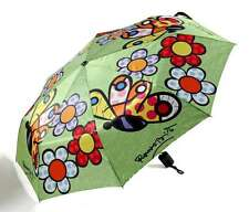Romero Britto Foldable Umbrella : Butterfly & Flowers - Authentic
