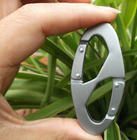 Dual Gate Aluminum Outdoor Buckles Carabiner Camping Clip Snap Hook Keychain Hot