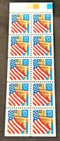 1995 Flag over Porch 10- 32¢ perforated stamp booklet pane red year Scott 2916