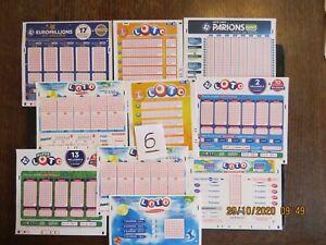 tickets loto grilles francaise des jeux FDJ