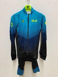 Alé Cycling PR-S Delta Long Sleeve Jersey & Winter Bibshort - Blue - Men Medium