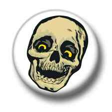 Skull 1 Inch / 25mm Pin Button Badge Skulls Emo Goth Indie Punk Scary Horror Fun
