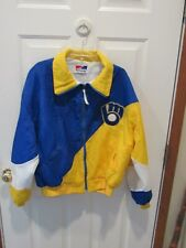 Vintage MILWAUKEE BREWERS Jacket size XL Swingster MLB blue & yellow rare