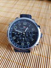 Tommy Hilfiger Men 114105350m 5atm Sophisticated Sport Watch Black Leather Band