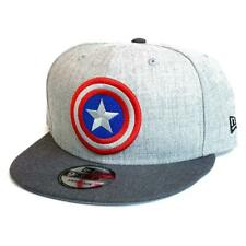 NEW ERA 9FIFTY CAPTAIN AMERICA SNAPBACK CAP. HEATHER GRAPHITE.
