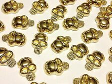 40pcs GOLD HOTFIX SKULL GEMS stick on Embellishments, PUNK, GOTH, DIY FASHION