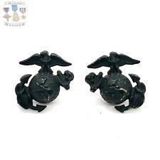 New listing Vietnam War Us Marine Corps Eagle Globe Anchor Insignia Ega Collar Set Screwback
