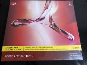 ADOBE ACROBAT X PRO STUDENT AND  TEACHER EDITION
