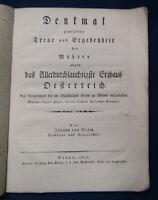 Böhm Denkmal geprüfter Treue & Ergebenheit der Mährer Erzhaus Österreich 1802 sf