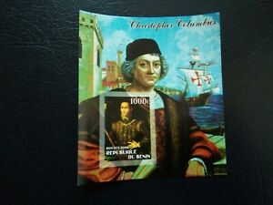 RARE STAMPS BENIN - 2006 - CHRISTOPHER COLUMBUS - MINI SHEET - MNH