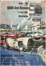Original Vintage Poster 1966 ADAC 1000 KM RENNEN NURBURGRING Car Racing Ferrari