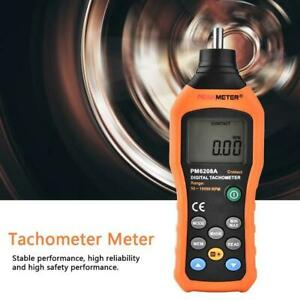 PEAKMETER PM6208A Digital Drehzahlmesser Handheld Motor Drehzahlmesser Tester ♡
