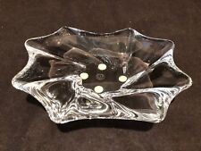 "Baccarat Crystal Free Form Oviedo Ashtray Trinket Bowl Dish Vintage 6 7/8"" Long"